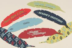 Feather Holiday Tags
