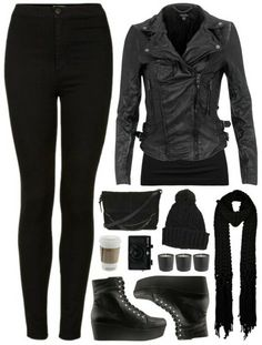 Rock outfit black