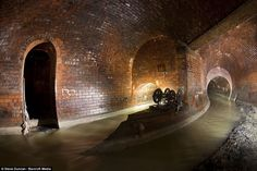 Much older network than in New York: A brick-built sewer chamber under Clapham High Street in south London