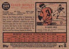 2011 Topps Heritage #249 Vance Worley Back