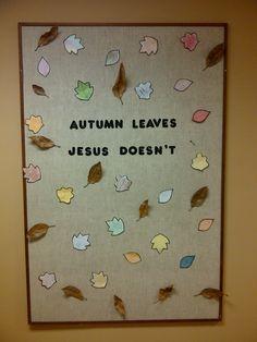 Autumn Church Bulletin Board, everyone loved it!