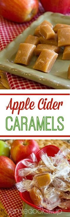 Apple Cider Caramels from Jamie Cooks It Up!!