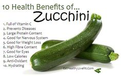 Health Benefits Of Zucchini!