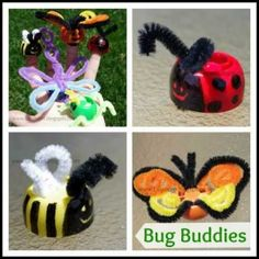 Pouch Cap Bug Buddies Insect Craft for Kids from Lalymom