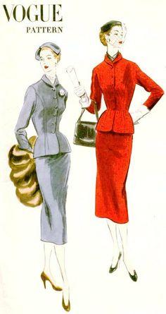 1950's Retro Sewing Pattern VOGUE 7777 1952 by shellmakeyouflip, $52.00