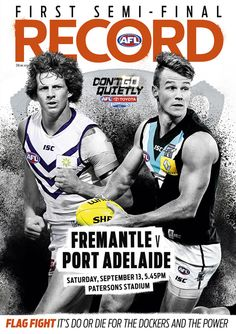 AFL Record | Week 2 Finals | Cover