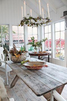 VIBEKE DESIGN: Høstdager i orangeriet !  I love Vibeke!!!  She is just so talented and fills me with inspiration...Don't you just love her garden house?