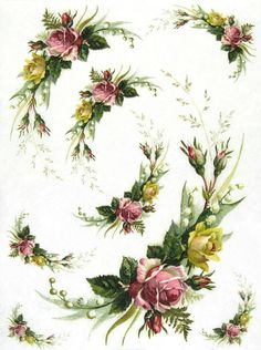 Ricepaper/Decoupage paper,Scrapbooking Sheets /Craft Paper Vintage Flora
