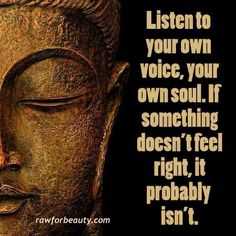 Listen to your own voice, your own soul. If something doesn't feel right it probably isn't. #zen #buddhism #meditation #mindfulness