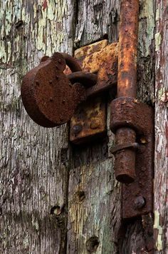 rusty old lock ...
