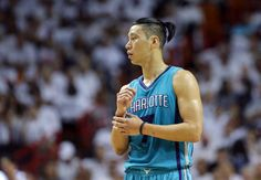 Charlotte Hornets guard Jeremy Lin walks on the court during the first half of Game 1 of a first-round NBA basketball playoff series, Sunday, April 17, 2016, in Miami.
