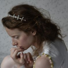 bridal headband  rock crystals and sterling silver  http://www.lucjazajac.com https://www.facebook.com/lucjazajacatelier