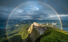 3/4 rainbow over Schafberg Austria | by Wim Air. xpost /r/AustriaPics. [2048x1280] http://ift.tt/28IL3uD