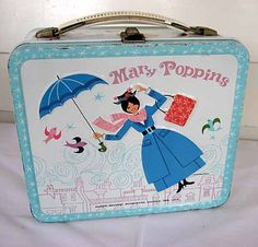 Vintage 1964 Mary Poppins Metal Lunch Box For your Supplies or Storage, Disney… Retro Lunch Boxes, Lunch Box Thermos, Tin Lunch Boxes, Metal Lunch Box, Boite A Lunch, School Lunch Box, Vintage Tins, Vintage Stuff, My Childhood Memories