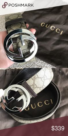 Gucci GG Supreme belt with G Buckle Size 36-90 Gucci Accessories Belts  Supremo 5c6695bfc45