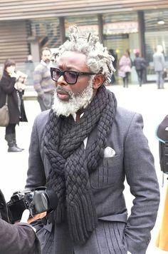 Pitti uomo 2013 - T-Michael Bergen I Love Beards, Black Men Beards, Black Power, African Men Fashion, Mens Fashion, Fashion Trends, Dapper Men, Gentleman Style, Modern Gentleman