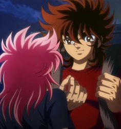 Seiya y shoko Chica Anime Manga, Anime Kawaii, Saints, Arte Dc Comics, Son Goku, Aang, Animes Wallpapers, Screen Shot, Japanese Art