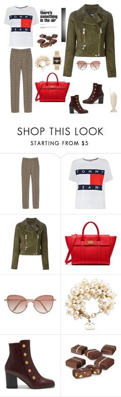 """""""Mulberry Outfit"""" by stylish-sparkles ❤ liked on Polyvore featuring Mulberry, Tommy Hilfiger, Versus, Cutler and Gross, Chanel and Olivia Burton"""