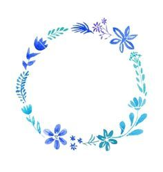 Watercolor floral wreath frame vector by Sunday_cake on VectorStock®