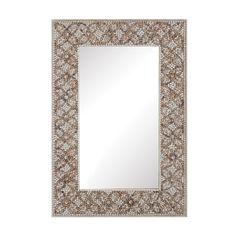 Cross Hatch Shell Mirror