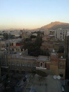 rooftop view in Sana'a, Yemen.