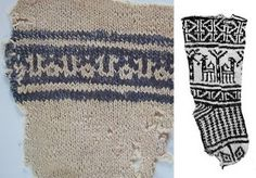 Fragment of cotton knit jersey point, jacquard decoration,  Egypt Coptic period, eleventh and twelfth centuries,  Cotton and fashion, 1000 years of adventures, exhibition catalog (2000-2001), page 29  Musée Galliera, Éditions Skira, Paris (sold out)  to dr. : Child sock, Fustat (Egypt), XI-XV century  Textile Museum, Washington Dar Anahita's