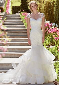 Courtesy of Rebecca Ingram Collection from Maggie Sottero Wedding Dresses; Wedding dress idea.