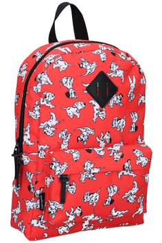 Backpack with 101 dalmatians print. Red Backpack, 101 Dalmatians, Little Girls, Backpacks, Disney, Prints, Bags, Fashion Trends, Handbags