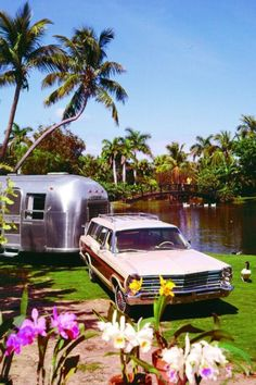 The Airstream on the Path To Paradise.