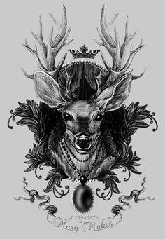 Татуировка Эскиз татуировки Олень
