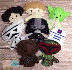 Star Wars Finger Puppets Embrodery Design Set