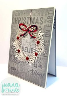 Juana Ambida Independent Stampin' Up!® Demonstrator Australia: Pines Wreath with Merry Medley - Case this Card Challenge #CTC003