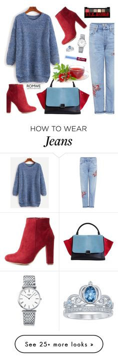 """""""Cozy sweater"""" by nastenkakot on Polyvore featuring Wild Diva, Citizens of Humanity, CÉLINE, Longines, NYX, Lime Crime and Disney"""