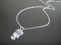 Antique Silver Owl Necklace via Etsy.