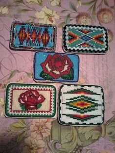 beadwork on Fb Native American Earrings, Native American Beadwork, Bead Loom Patterns, Beading Patterns, Native Rose, Beaded Moccasins, Embroidered Roses, Beadwork Designs, Indian Crafts