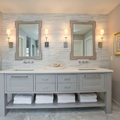 Gray Vanity Design, Pictures, Remodel, Decor and Ideas - page 3