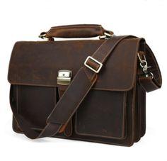 Hand Stitched Leather Messenger Bag(C24) from Senger Leather Bag