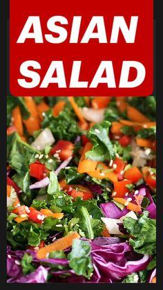 Best Salad Recipes, Kale Recipes, Chicken Salad Recipes, Healthy Dinner Recipes, Vegetarian Recipes, Cooking Recipes, Beetroot Recipes Salad, Asian Kale Salad Recipe, Veggie Asian Recipes