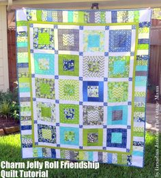 Charm and Jelly Roll Friendship Quilt Tutorial