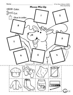 you gIve a moose a muffin. I used this last week for a sequencing lesson. Also had a song and sentence strips that students organized and put in order of the story! Kindergarten Language Arts, Kindergarten Literacy, Classroom Activities, Book Activities, Sequencing Activities, Story Sequencing, Preschool Ideas, Comprehension Activities, Preschool Letters