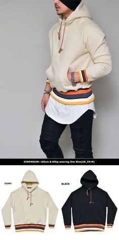 Tops    Contrast Stripes Fleece Pullover-Hoodie 213 - GUYLOOK Men s Trendy  Fashion Clothing Online 6971e45aa0b