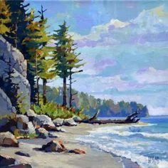 Art Watercolor, Watercolor Landscape Paintings, Seascape Paintings, Abstract Landscape, Pastel Paintings, Inspiration Art, Canadian Art, Art Oil, Beautiful Landscapes
