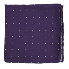 Dotted Report pocket square - Plum | Ties, Bow Ties, and Pocket Squares | The Tie Bar