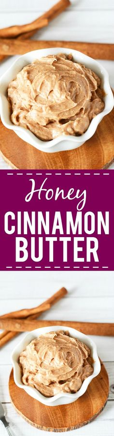 Honey Cinnamon Butter Recipe -What could be better than butter, you ask? This sweet, warm Honey Cinnamon Butter with just 4 ingredients that you can whip up in just 10 minutes! Put it in a mason jar fora super yummy DIY gift idea!