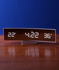 IDEA LABEL(イデア レーベル)の「電波カーブLEDクロック(置時計 ...