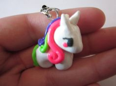 Mini Unicorn Polymer Clay Charm Kawaii Polymer by PorcelainGhosts
