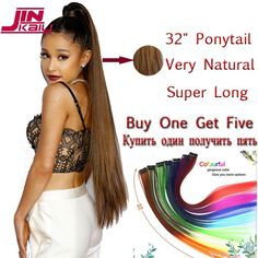 Ali Pearl Hair Long Length 30 32 34 36 38 40 Inches Straight Hair 1 Piece Only Natural Black Remy Hair Fancy Colours Hair Weaves