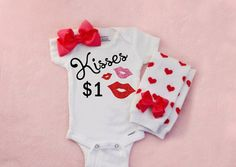 1st Valentines day outfit Baby's 1st by TrendyBabyClothesnco