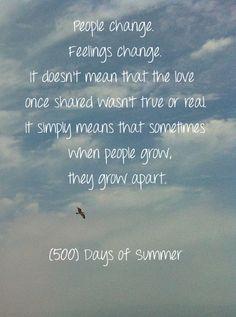Change. 500 Days of Summer.
