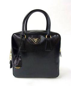 double handbag - PRADA BAULETTO bag SPAZZOLATO in Sole Fume\u0026#39; BL0838   Bags ...